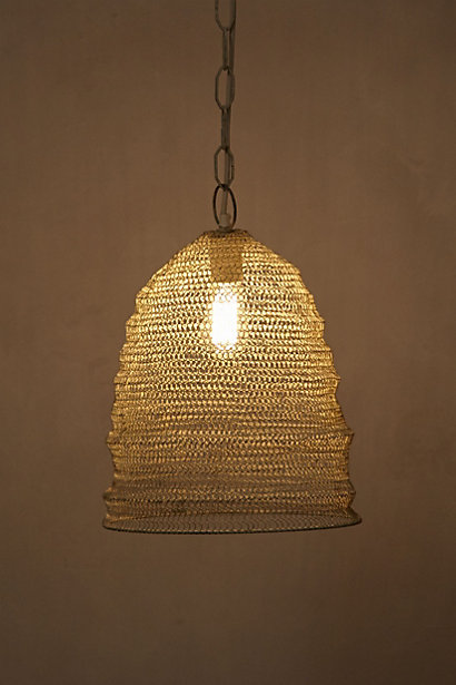 The MESH BEEHIVE PENDANT LAMP from Anthropologie for $168