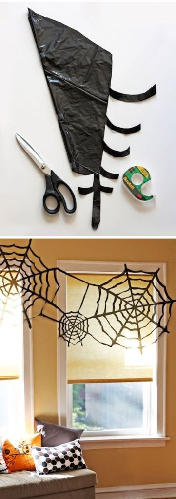 All household items, and a great way to decorate with an impromptu Halloween party