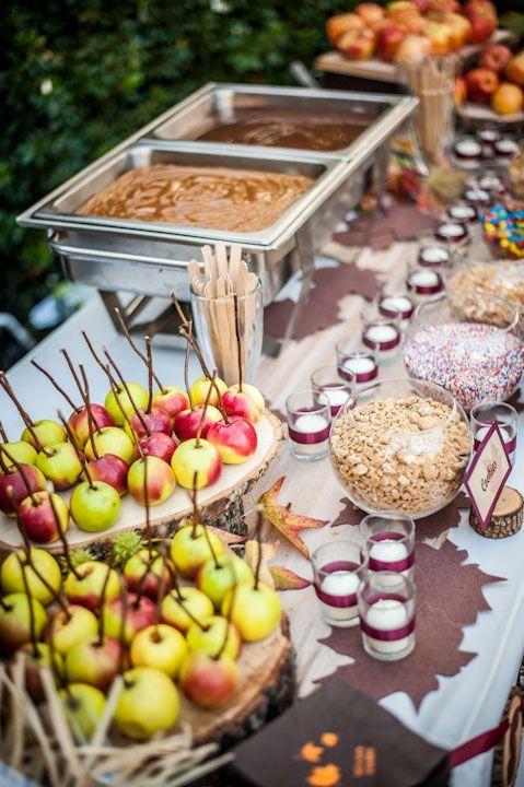 Make your own carmel apple bar. LOVE.