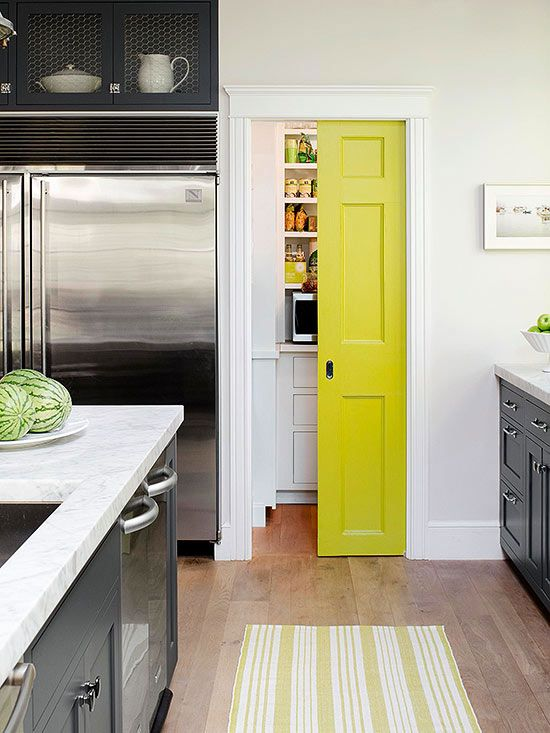 Such an adorable pantry door for a fun and funky kitchen!