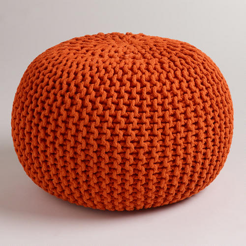 Knitted Jafra Orange Pour from World Market for $79.99. I love this fall color!