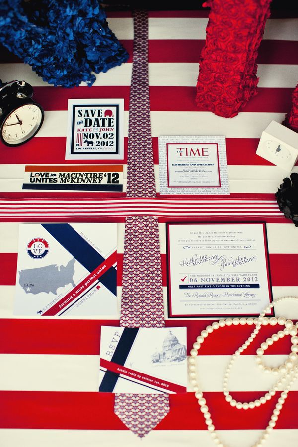 Adorable political wedding invitations!